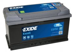 Autobaterie EXIDE Excell 95Ah, 12V, EB950