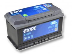 Autobaterie EXIDE Excell 80Ah, 12V, EB802