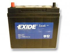 Autobaterie EXIDE Excell 45Ah, 12V, EB457