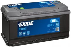 Autobaterie EXIDE Excell 85Ah, 12V, EB852