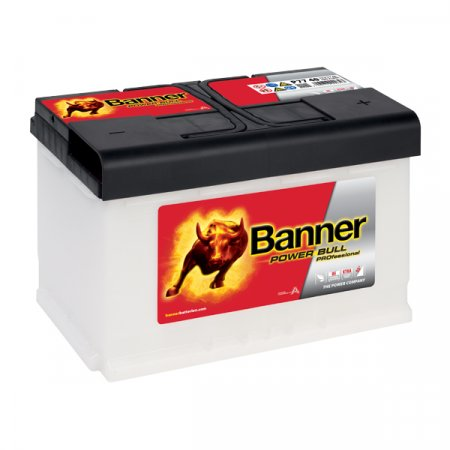 Autobaterie Banner Power Bull PROfessional P77 40, 77Ah, 12V ( PRO P77  40), technologie Ca/Ca