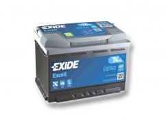 Autobaterie EXIDE Excell 74Ah, 12V, EB740