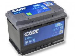 Autobaterie EXIDE Excell 74Ah, 12V, EB741