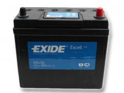 Autobaterie EXIDE Excell 45Ah, 12V, EB456
