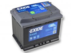 Autobaterie EXIDE Excell 62Ah, 12V, EB620