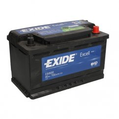 Autobaterie EXIDE Excell 80Ah, 12V, EB800