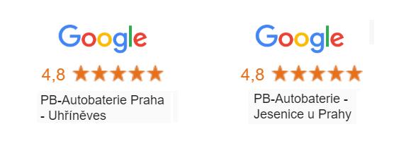Hodnocení obchodu PB-Autobaterie na Google